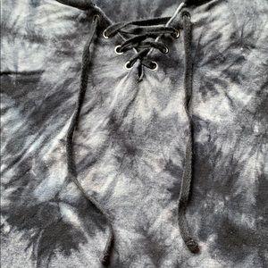 Empyre Tops - Tie-dye Criss Cross Crop Top